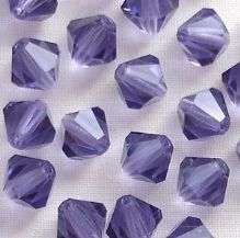 6mm Preciosa Crystal Bicone Tanzanite - 72